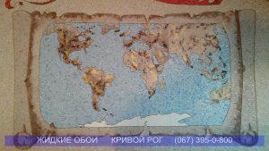 Жидкие обои Кривой Рог Карта мира